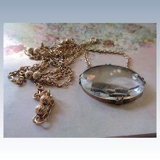 Vintage Long Crystal Necklace