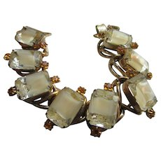 Vintage Unsigned Art Glass Costume Jewelry Bracelet