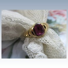 Victorian 18k Natural Stone Ring