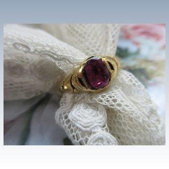 Victorian 18k Natural Stone Ring