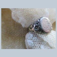 Older Vintage Sterling Signet Ring