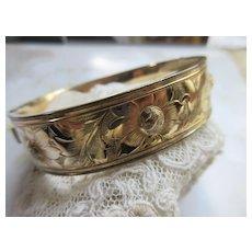 Older Vintage Bangle Bracelet 12K GF Bliss Brothers