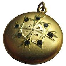 Antique Jeweled Locket Paste Locket