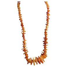 Vintage Baltic Amber Necklace Egg Yolk Amber