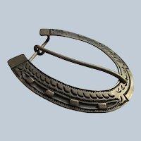 Vintage Native American Sterling Belt Buckle Aaron Toadlena