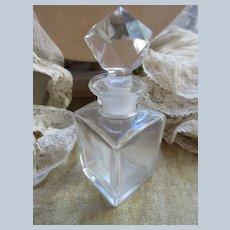 Older Vintage Perfume Bottle with Faceted Topper