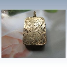 Antique Victorian Locket with Gold Covers