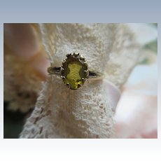 Antique 10K Citrine Ring Pinky Ring Baby Ring