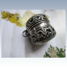 Antique Sterling Chatelaine Thimble Holder
