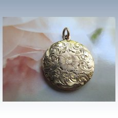 Antique 10K Engraved Locket