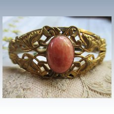Antique Art Nouveau Bangle Bracelet in Gold Fill