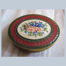 Vintage Enameled French Miniature Box