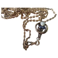 Antique Long Ladies Watch Chain with 10K Slide