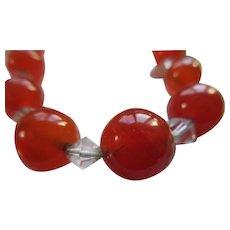 Vintage Carnelian Bead Necklace