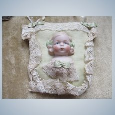 Sewing Collectible Bisque Doll Pin Cushion