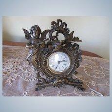 Antique Cherub Love Birds Clock