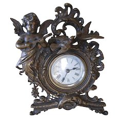 Antique Cherub Love Birds Clock