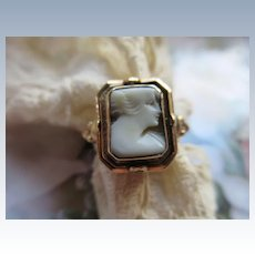 Vintage 40s Cameo Flip Ring