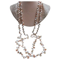 Vintage 83'' Continuous Strand Fresh Water Pearls