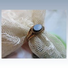 Antique 10K Hard Stone Baby Ring Pinky Ring