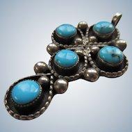 Vintage Sterling Native American Cross Pendant