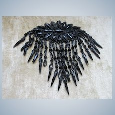 Victorian Black Glass Dress Embellishment