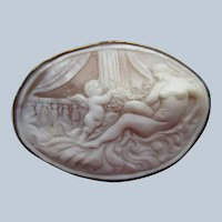 Antique English 9ct Cameo Eros and Venus