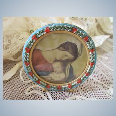 Vintage Italian Mosaic Picture Frame
