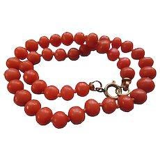 Vintage 8.5'' Natural Coral Bracelet