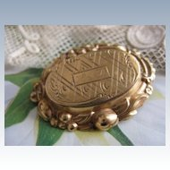 Victorian Locket  Pin     Memorial