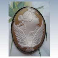 Antique Cameo   Modern Roycroft Frame