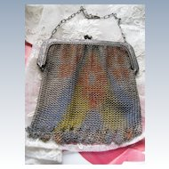 Whiting & Davis Mesh Purse  Dresden