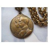 Albert & Elizabeth of Belgium Coin Necklace