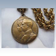Albert & Elizabeth of Belgium Coin Necklace