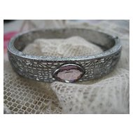 Art Deco Jeweled Filigree Bracelet