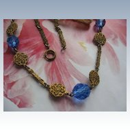 Circa 1930 Crystal Filigree Necklace