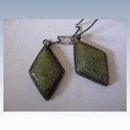 Arts & Crafts Sterling Pierced Earrings
