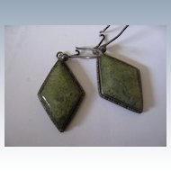 Arts & Crafts Sterling Pierced Earrings