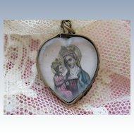 St. Anne   Devotional Heart Charm