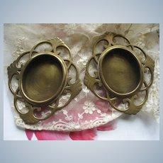 Victorian Brass Frames    Pair Antique