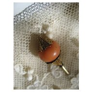 Victorian 10K Coral Stick Pin