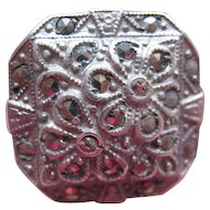 Deco Sterling Marcasite Ring