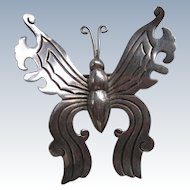 Serafin Moctezuma Mexican Sterling Butterfly Brooch