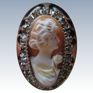 Vintage Shell Cameo Paste Ring
