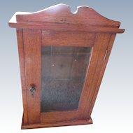 Victorian Wall Cabinet, Antique Medicine Cabinet, Curio, Oak Cabinets