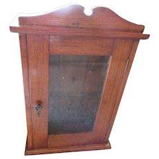 Victorian Wall Cabinet Antique Medicine Curio Oak Cabinets