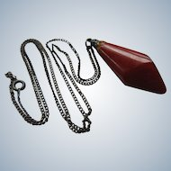 Vintage Amber Silver Necklace