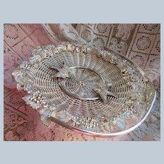 Victorian Silver Plate Basket, Love Birds, Wedding Gifts