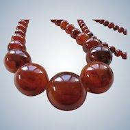 Vintage Cherry Amber Bakelite Necklace