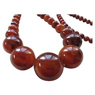 Vintage Cherry Amber Bakelite Necklace